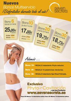 Conoce nuestros Bonos de tratamientos corporales en http://www.sevensecrets.es/ofertas-estetica.php#