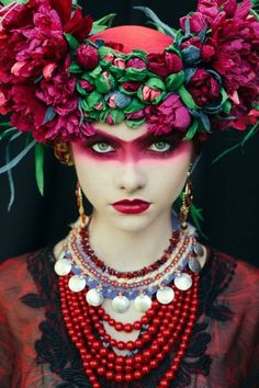 Etno series by the make-up artist Beata Bojda from Poland.