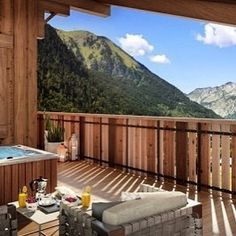 We're loving the view from this glorious terrace in Chatel #Luxury #Lifestyle #Interiors #InteriorDesign #HomeDesign #HomeDecor #Home #Property #RealEstate #EstateAgent #Realtor #Design #Ski #Skiing #France #Alpine #Sports #Winter #Maison #Designer #Luxe #Propriété