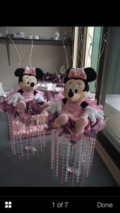 Minnie Mouse centrepieces