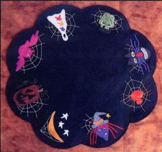 Halloween-Table-Mat-Primitive-Gatherings-Wool-Quilt-Pattern