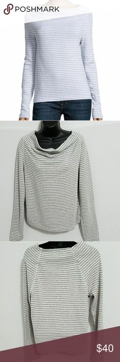 James Perse cowl neck sweatshirt size M/L EUC James Perse cowl neck very soft cotton sweatshirt size medium to large. 19.5 inches armpit to armpit, 22 inches long if you have any questions I'll be happy to answer them James Perse Tops Sweatshirts & Hoodies
