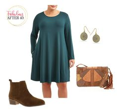 Affordable Plus-Size Outfits for Fall - Teal Dress