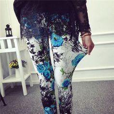 New 2016 Spring Summer Womens Fashion Black Milk Thin Stretch leggings Colored Stars Graffiti Slim Skinny Leggings Pants Female
