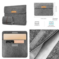 Macbook Case Sleeve Tablet Bag For Apple 12-Inch with Retina Display Dark Gray