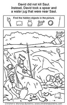 Sunday school activity about David and Saul for ages 7-12: Then what happened