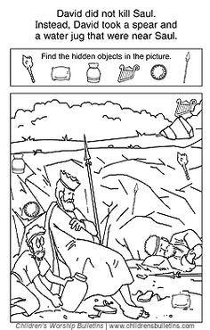 saul hides in cave preschool