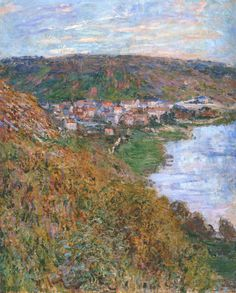 impressionism-art-blog:  View over Vetheuil via Claude Monet