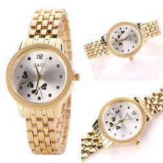 Fashion Women Dragonfly Gold Stainless Steel Analog Quartz Bracelet Wrist Watch #Unbranded #DressFormal