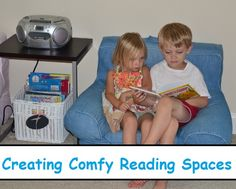 Creating Comfy Reading Spaces: Our Audio Book Listening Area