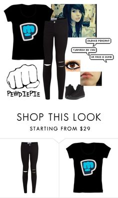 """""""Pewdiepie"""" by lifesucks-musichelps ❤ liked on Polyvore featuring New Look and Converse"""