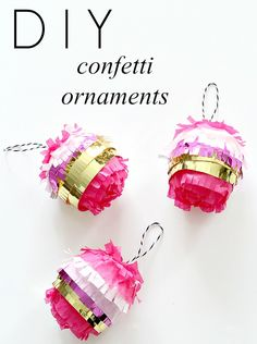 nothing could be cuter! diy confetti ornaments
