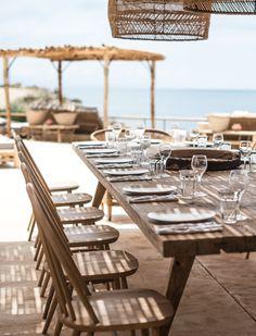 Mediterranean beach side dining