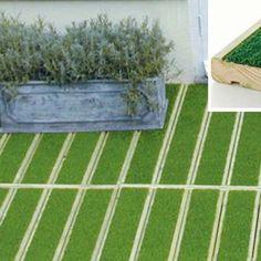 Terrasse en gazon synthétique