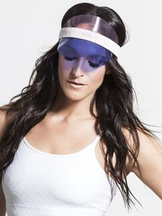 Keep the hair and sun out of your eyes with the Monreal Signature Visor. The elastic band stays comfortable all day, and the transparent brim will give you a chic iridescent vibe.