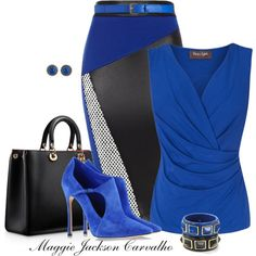 Bright Blue shoes, created by maggie-jackson-carvalho on Polyvore