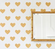 """Gold Heart Decals 