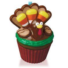 Grateful Gobbler Turkey Keepsake Cupcake Ornament