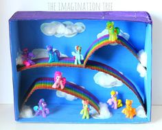 DIY: I could see M loving this. My Little Pony Small World Play Box