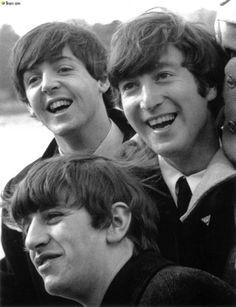 Paul McCartney, John Lennon, and Richard Starkey
