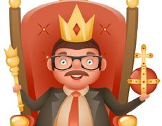 """Check out new work on my @Behance portfolio: """"Successful businessman cute cheerful king crown ruler"""" http://be.net/gallery/53321833/Successful-businessman-cute-cheerful-king-crown-ruler"""