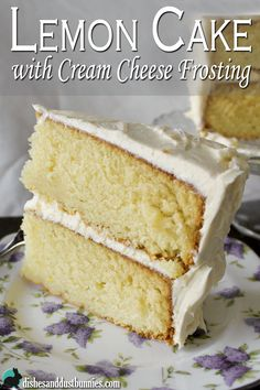 Recently I made this awesomely delicious lemon cake with cream cheese frosting! It's so easy to make and the lemon flavors are so refreshing.