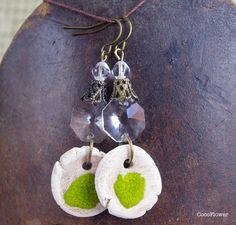 boucle d oreille faux diams, bijou original, style ethnique, mode tribale, bijoux pour sortir : Boucles d'oreille par cocoflower