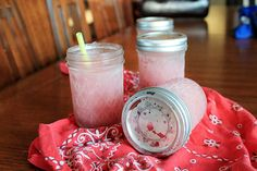 Jargaritas: margaritas in a jar. Can be made weeks in advance; just store in the freezer and shake up the jar for slushy refreshment - no blender required!