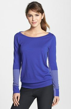 nike knit boatneck top