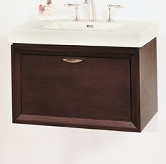 "WV30 Fairmont Caprice 30"" Wall Mount Vanity and Sink Set - Espresso"