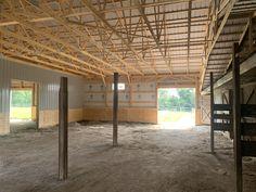 Horse Barn under construction. Under Construction, Pergola, Barn, Outdoor Structures, Horses, Home Decor, Converted Barn, Decoration Home, Room Decor