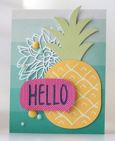 Silhouette America Blog | Summer Pineapple Hello Card