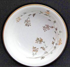 """NORITAKE China FLORENCE #5528 Fruit/Dessert (Sauce) Bowl 5-1/2"""", White c.1954-60 #Noritake"""