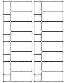 Template For Metallic Classic Shape Labels X - 3 x 4 label template