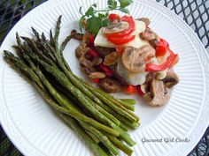 Gourmet Girl Cooks: Grilled Burgers Topped w/ Fontina, Mushrooms, Onions and Red Peppers