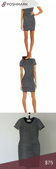 Michael Kors Ottoman Rib Short Sleeve Stripe Dress *BRAND NEW* From MICHAEL Michael Kors, this dress features: crew neckline short sleeves straight hemline pullover construction viscose/nylon hand wash Imported. Michael Kors Dresses Mini