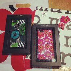 [めっこ❶*2012/11/09]    MARIMEKKO PHONE COVERS ♡    Siirtolapuutarha & Unikko ˚೫˚◟꒰∗ˊ꒵ˋ∗꒱◞˚೫˚