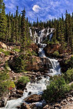 Tangle Creek Falls, Alberta, Canada. Fine art photograph by Kathleen Bishop.