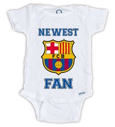FIFA BARCELONA FAN Baby Onesie Baby Bodysuit Soccer by JujuApparel Great Baby Shower Gift, Mother's Day, Father's Day FC Barcelona, Baby clothes
