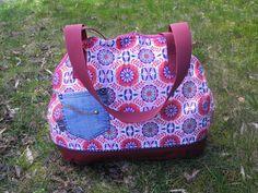Bogentasche farbenmix Taschenspieler 3 - Ornamente Beppo, Kunstleder, innen Ripstopp