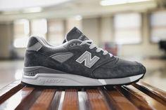 New Balance 998 - Charcoal / White