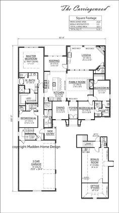 The Carriagewood Madden Home Design   Acadian House Plans, French Country  House Plans