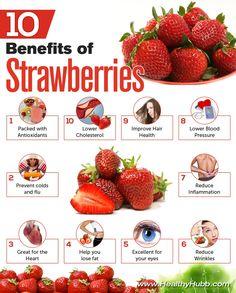 10 Amazing Health benefits of Strawberries #health #food