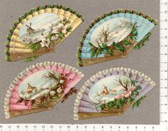 EKDuncan - My Fanciful Muse: The Fun of Paper Art Dolls - Examples from other Artists Antique Fans, Vintage Fans, Vintage Images, Vintage Prints, Minis, Hand Held Fan, Hand Fans, Toy Theatre, Shabby