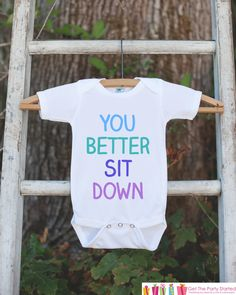 Pregnancy Announcement - You Better Sit Down Outfit for New Baby - Pregnancy Reveal Idea - Baby Announcement - Surprise New Grandparents