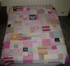 baby clothes quilt...what a great way to preserve memories :)