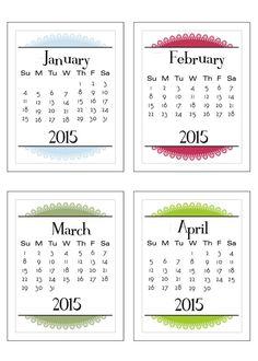 Free 3×4  2015 Calendar Cards