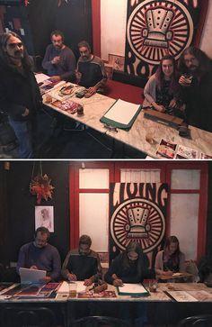 3er Festival de la Caricatura y el Retrato. 4·01·2017 en Café Pub Living Room (Ciudad Real)