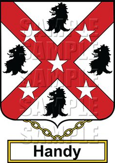 Handy Family Crest apparel, Handy Coat of Arms gifts