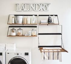 Find laundry room accessories from Pottery Barn. Update your laundry room with expertly crafted and stylish laundry hampers, ironing boards and laundry shelving. Room Accessories, Laundry Drying, Fold Out Table, Shelves, Room Organization, Laundry Room Decor, Drying Rack Laundry, Room Setup, Room Storage Diy